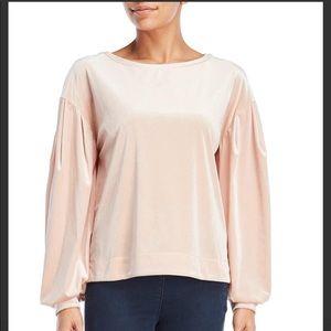 Laundry by Shelli Segal Velvet top powder pink
